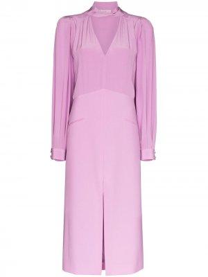 Платье миди с декоративным платком Givenchy. Цвет: фиолетовый