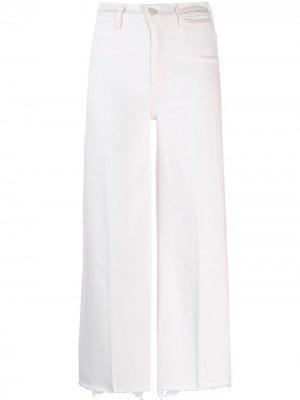 Укороченные джинсы широкого кроя Mother. Цвет: нейтральные цвета
