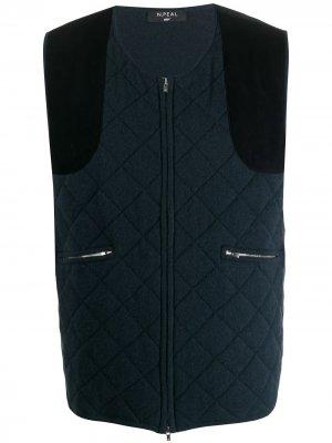 Стеганый жилет 007 N.Peal. Цвет: синий