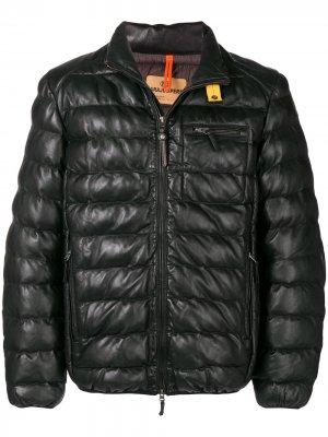Кожаная куртка Parajumpers. Цвет: черный