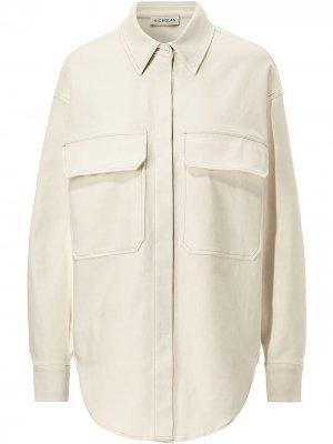 Твиловая куртка-рубашка Calista Nicholas. Цвет: белый