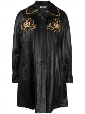 Пальто 1980-х годов с вышивкой A.N.G.E.L.O. Vintage Cult. Цвет: черный