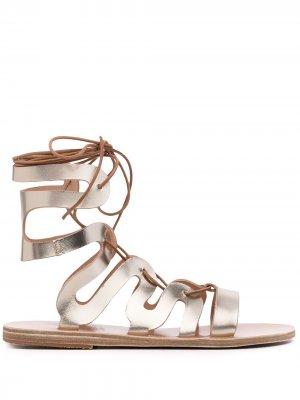 Сандалии с ремешком на щиколотке Ancient Greek Sandals. Цвет: золотистый