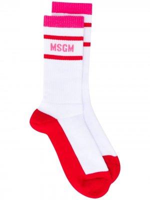Носки с логотипом MSGM. Цвет: белый