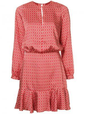 Платье с геометрическим принтом Alexis. Цвет: красный