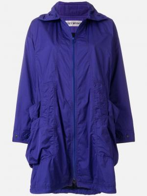 Куртка-дождевик с капюшоном Issey Miyake Vintage. Цвет: синий