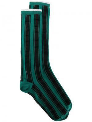 Носки в полоску Haider Ackermann. Цвет: зеленый