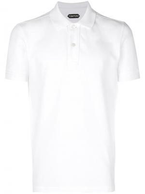 Теннисная рубашка-поло Tom Ford. Цвет: белый