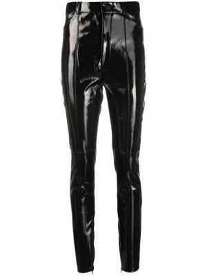 Прямые брюки David Koma. Цвет: черный