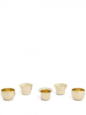 Набор из пяти подсвечников Kin Skultuna. Цвет: золотистый