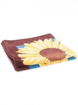 Пляжное полотенце с принтом pre-owned Hermès. Цвет: синий