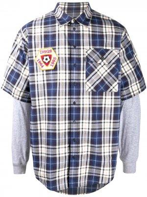 Клетчатая рубашка с длинными рукавами Dsquared2. Цвет: синий