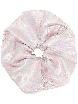 Резинка для волос с эффектом металлик Atu Body Couture. Цвет: розовый