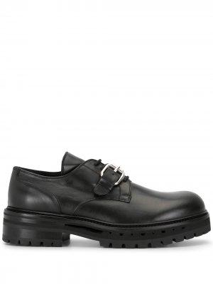 Andrea Yaaqov массивные туфли монки со шнуровкой Ya'aqov. Цвет: черный