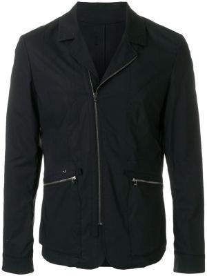 Куртка с декоративной строчкой и застежкой на молнию Wooyoungmi. Цвет: черный