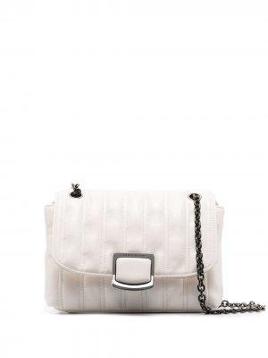 Стеганая сумка Amazone Longchamp. Цвет: белый
