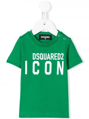 Футболка Icon с логотипом Dsquared2 Kids. Цвет: зеленый