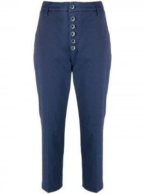 Укороченные брюки чинос средней посадки Dondup. Цвет: синий