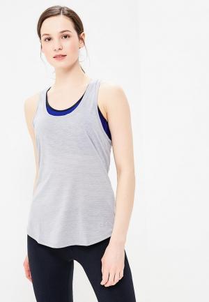 Майка спортивная Under Armour. Цвет: серый