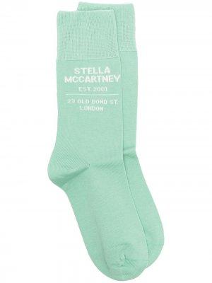 Носки вязки интарсия с логотипом Stella McCartney. Цвет: зеленый