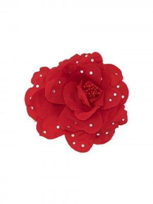 Декорированная брошь в форме цветов Philosophy Di Lorenzo Serafini. Цвет: красный