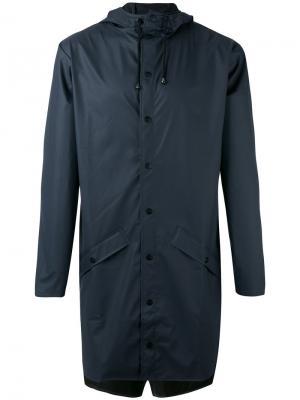 Пальто на молнии Rains. Цвет: синий