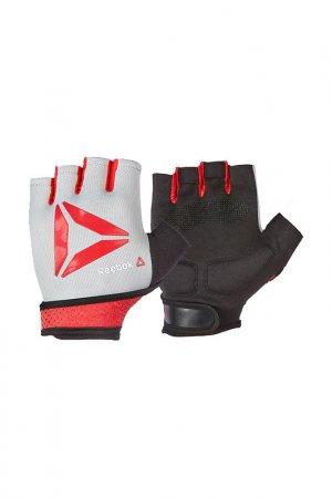 Перчатки для фитнеса Reebok. Цвет: красный