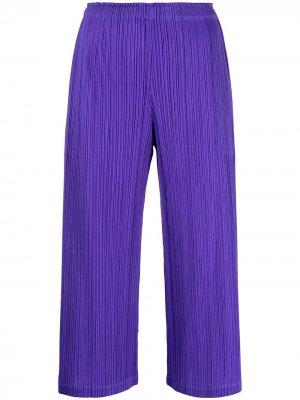 Укороченные плиссированные брюки Pleats Please Issey Miyake. Цвет: фиолетовый