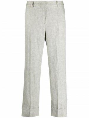 Укороченные брюки прямого кроя Incotex. Цвет: зеленый