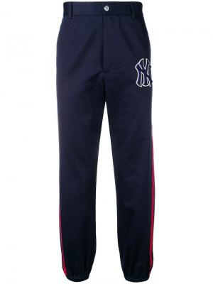 Спортивные брюки NY Yankees Gucci. Цвет: синий