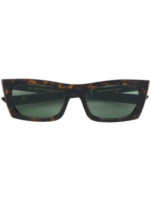 Fred rectangular frame sunglasses Retrosuperfuture. Цвет: коричневый