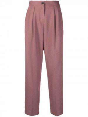 Прямые брюки со складками PS Paul Smith. Цвет: розовый