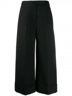 Укороченные брюки широкого кроя Simone Rocha. Цвет: черный