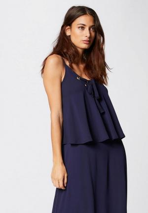 Платье Morgan. Цвет: синий