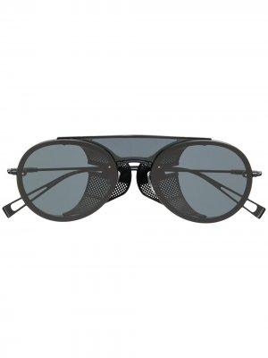 Солнцезащитные очки-авиаторы Max Mara. Цвет: черный