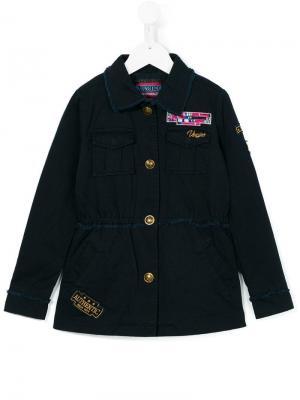 Куртка с нагрудными карманами Vingino. Цвет: синий