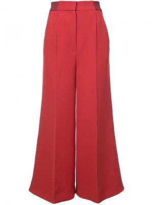 Расклешенные брюки Roksanda. Цвет: красный
