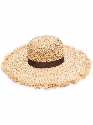 Плетеная шляпа Borsalino. Цвет: нейтральные цвета