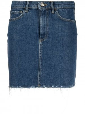 Джинсовая мини-юбка 3x1. Цвет: синий