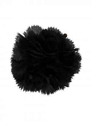 Брошь с цветочной аппликацией из тюля Alexandre Vauthier. Цвет: черный