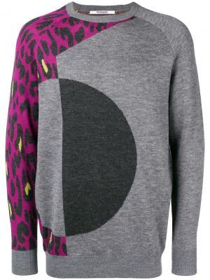 Leopard print jumper Chalayan. Цвет: серый