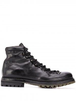 Ботинки на шнуровке Premiata. Цвет: черный