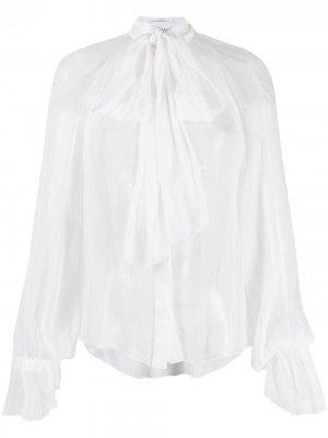 Блузка с бантом Atu Body Couture. Цвет: белый