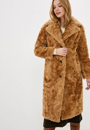 Шуба Marks & Spencer. Цвет: коричневый