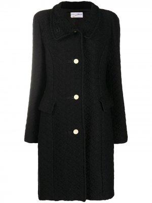 Фактурное пальто 1990-х годов длины миди Dolce & Gabbana Pre-Owned. Цвет: черный