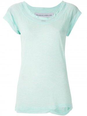 Блузка с вырезами Gloria Coelho. Цвет: синий