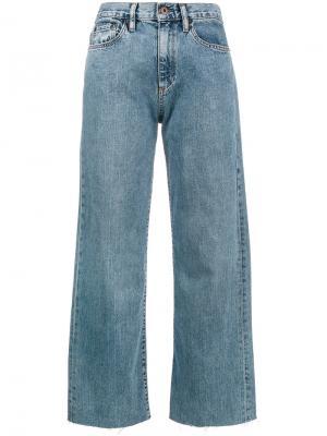 Широкие укороченные джинсы Simon Miller. Цвет: синий