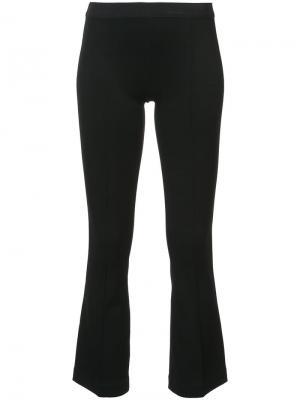 Укороченные расклешенные брюки Helmut Lang. Цвет: черный