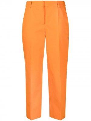 Укороченные брюки с завышенной талией Boutique Moschino. Цвет: оранжевый