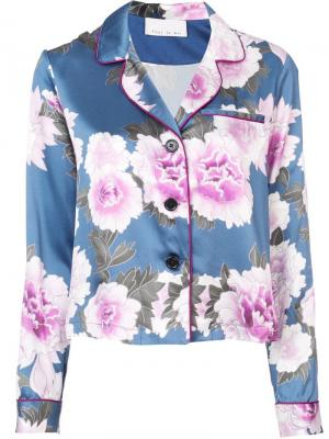 Пижамная рубашка Fleur Du Mal. Цвет: синий